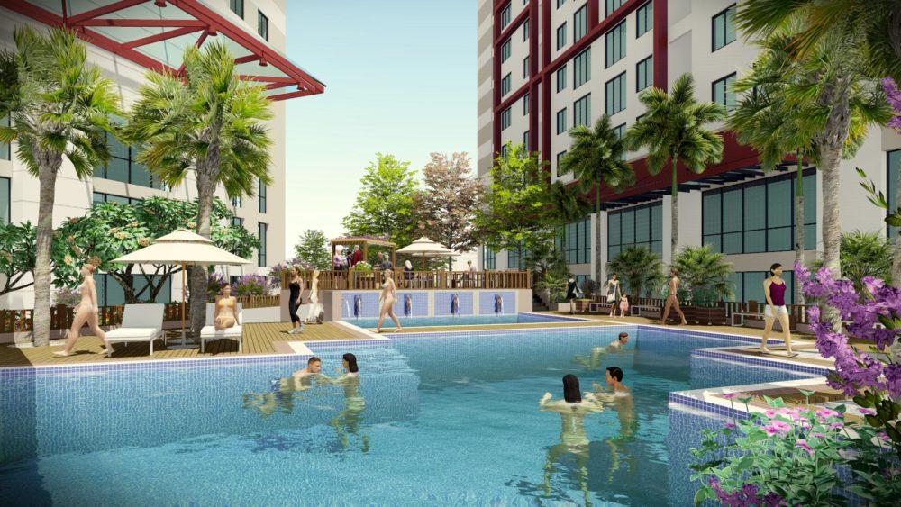 Chung cư Imperia Plaza 360 Giải Phóng - Bể bơi