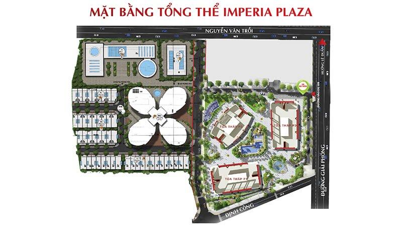 Chung cư Imperia Plaza 360 Giải Phóng - Mặt bằng tổng thể