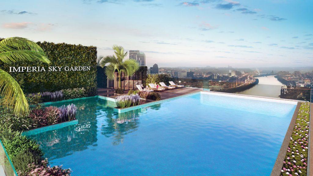 Chung cư Imperia Sky Garden - Bể bơi vô cực