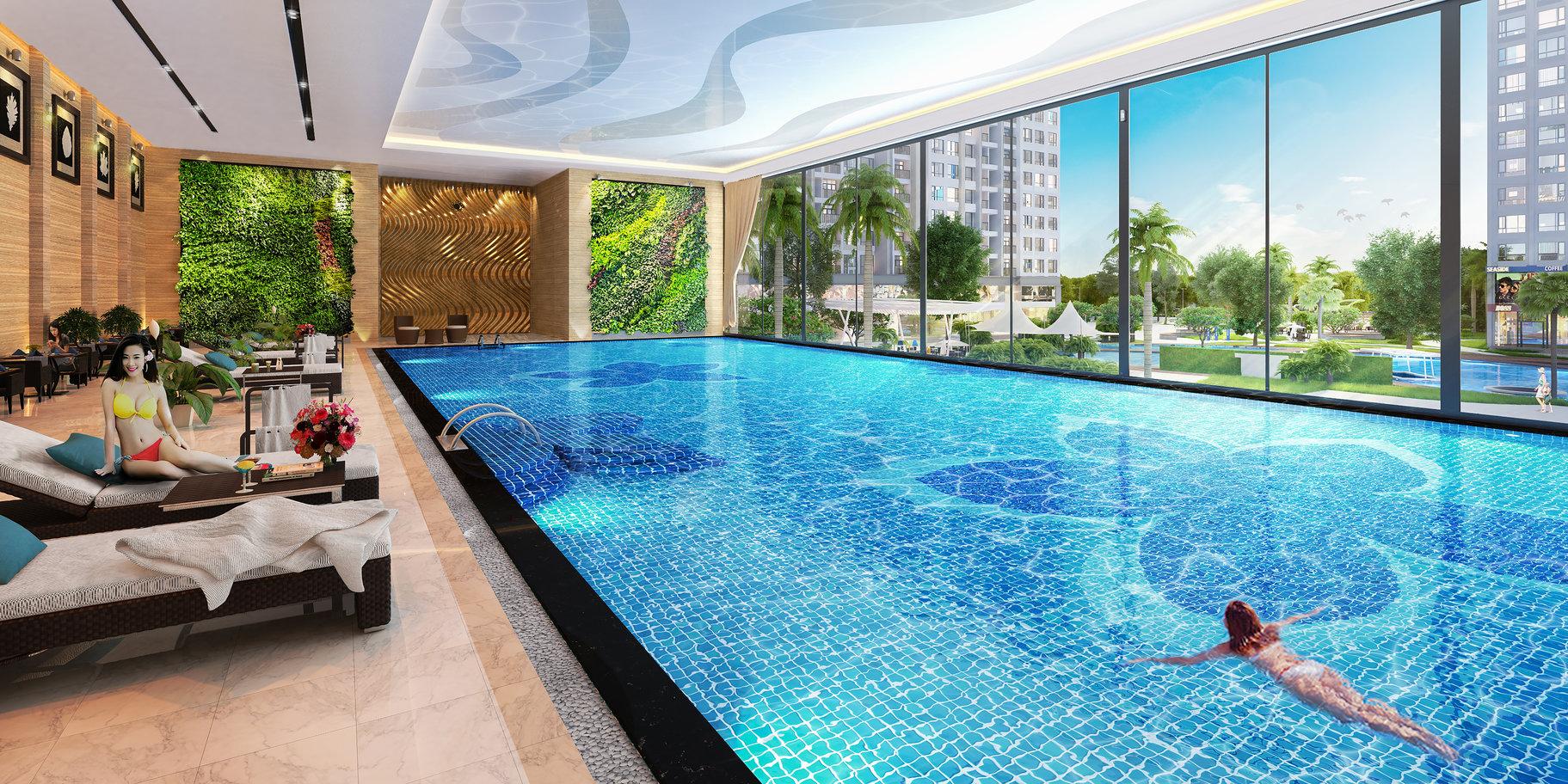 Chung cư Vinhomes Gardenia - Bể bơi trong nhà