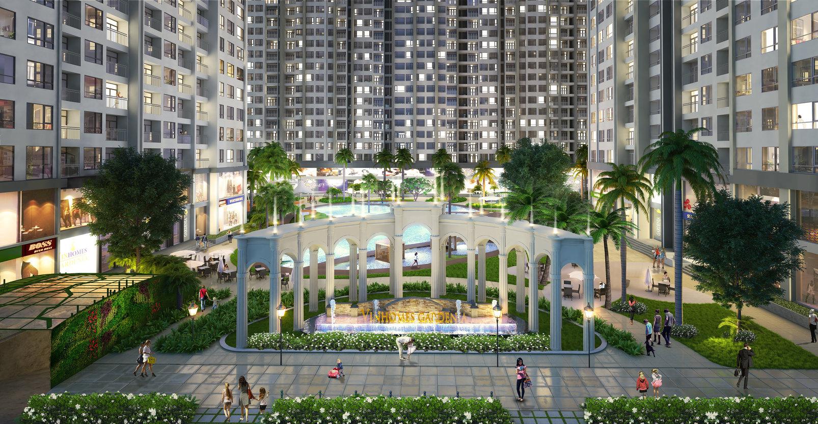Chung cư Vinhomes Gardenia - Quảng trường trung tâm