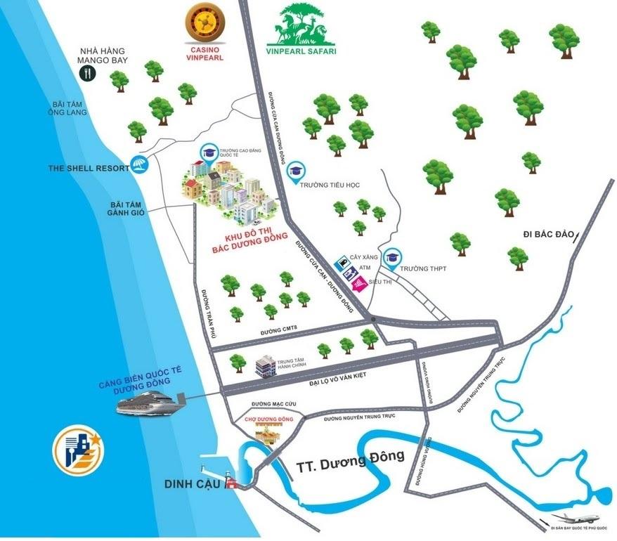 KĐT Bắc Dương Đông Phú Quốc - Vị trí địa lý