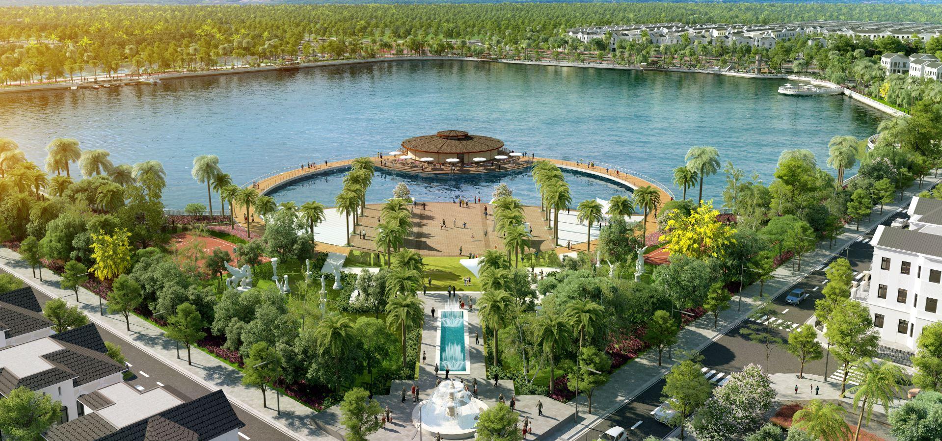 Vinhomes Riverside The Harmony - Công viên hồ điều hòa