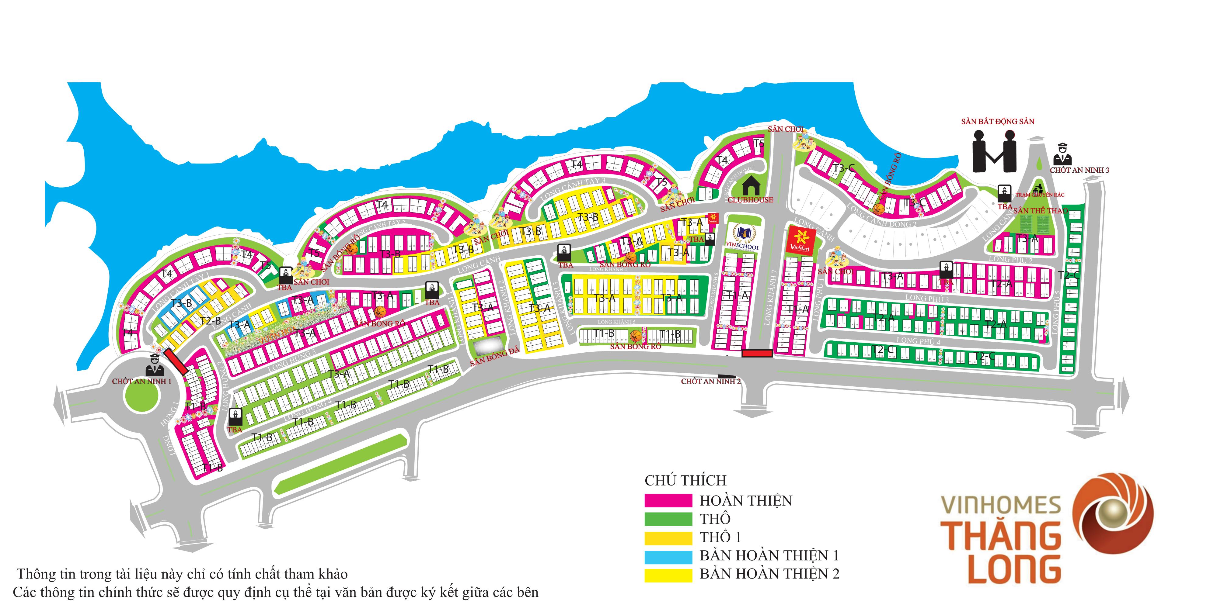 Vinhomes Thăng Long - Bản đồ tổng thể
