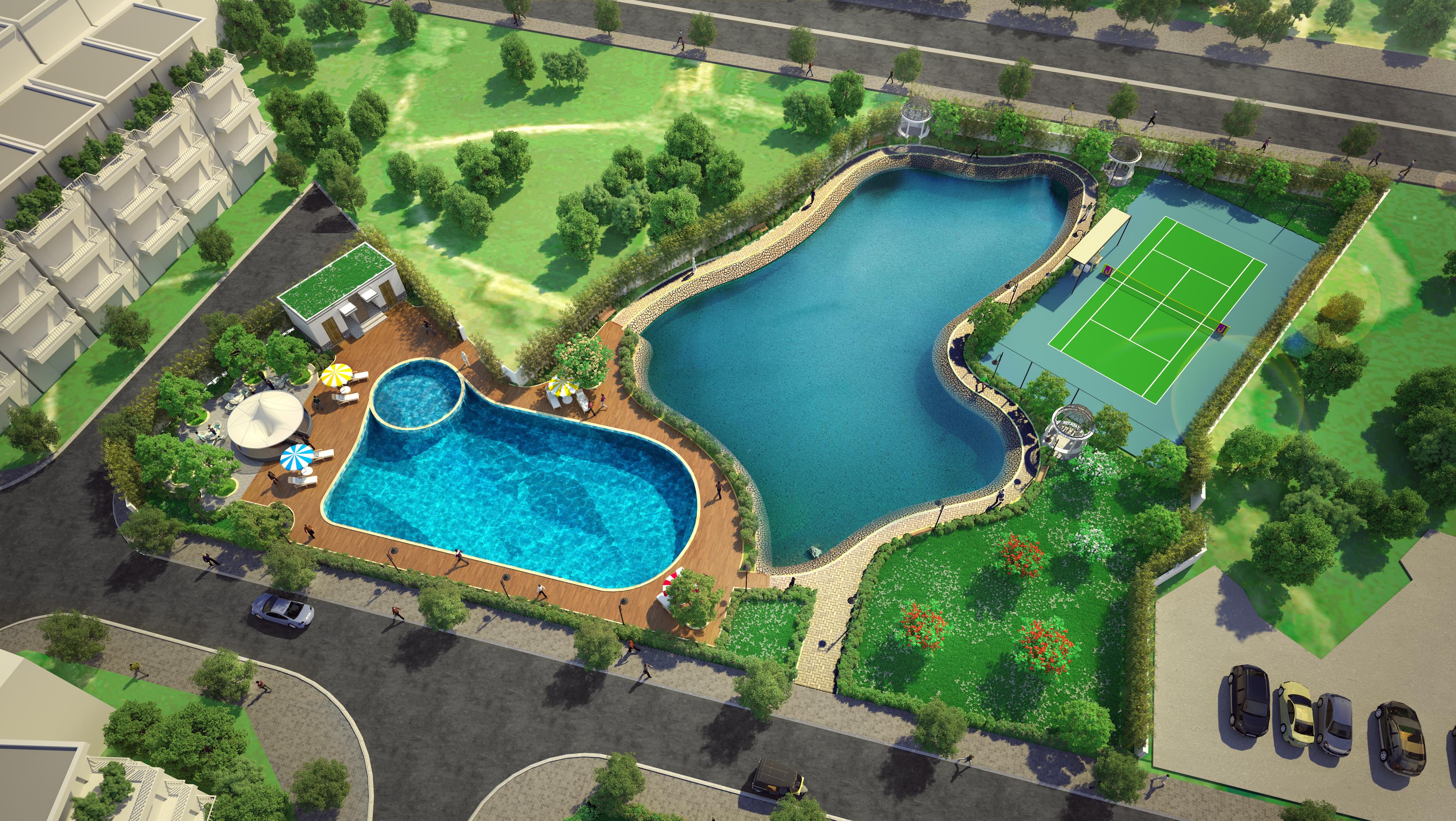 Biệt thự liền kề The Eden Rose Thanh Trì - Khu bể bơi