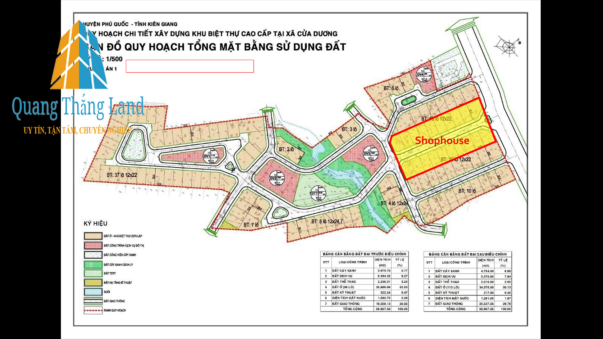 Royal Streamy Villas Phú Quốc - Bản đồ phân lô