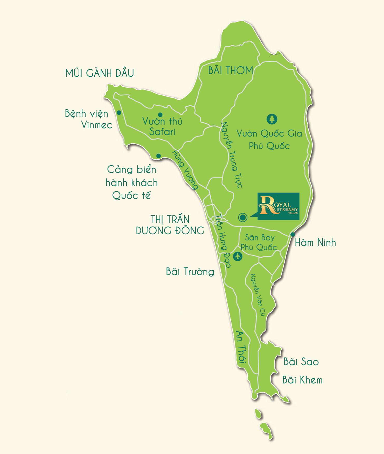 Royal Streamy Villas Phú Quốc - Liên Kết Vùng