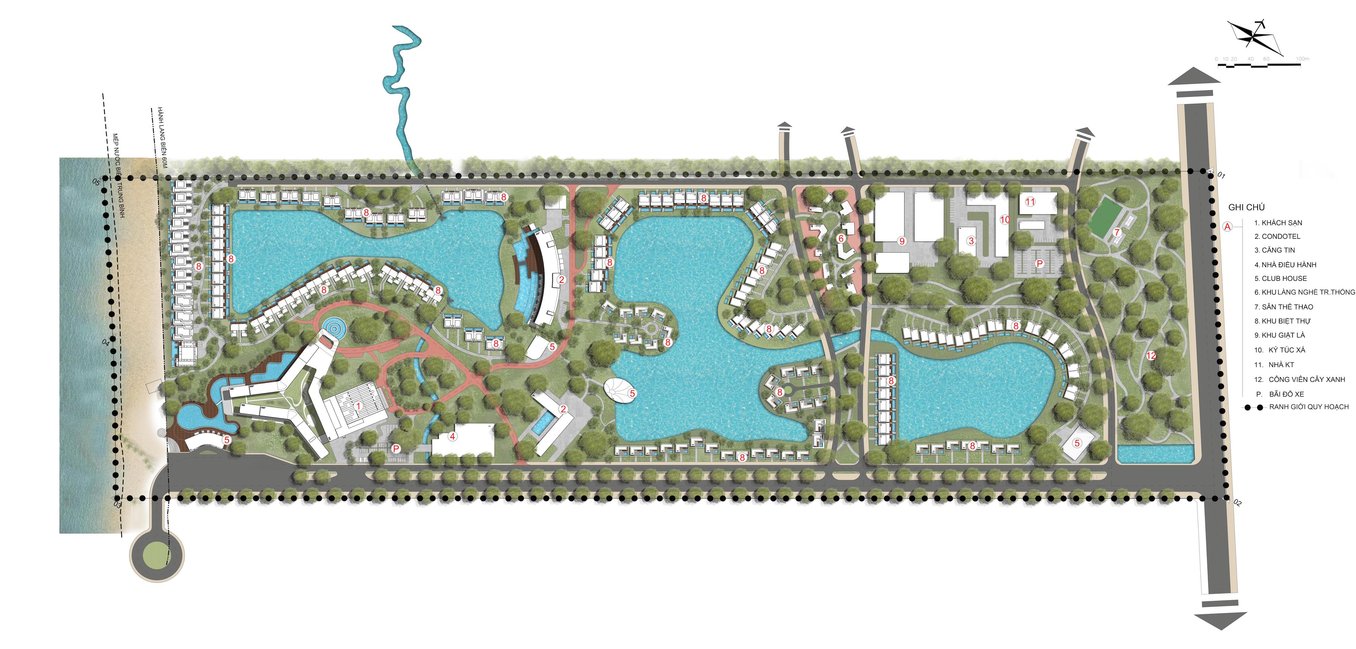 Movenpick Resort Waverly Phú Quốc - Mặt Bằng Tổng Thể
