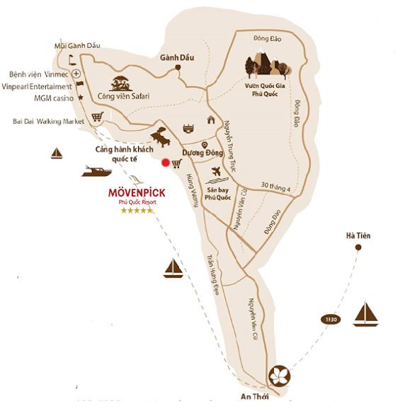 Movenpick Resort Waverly Phú Quốc - Vị Trí Dự Án