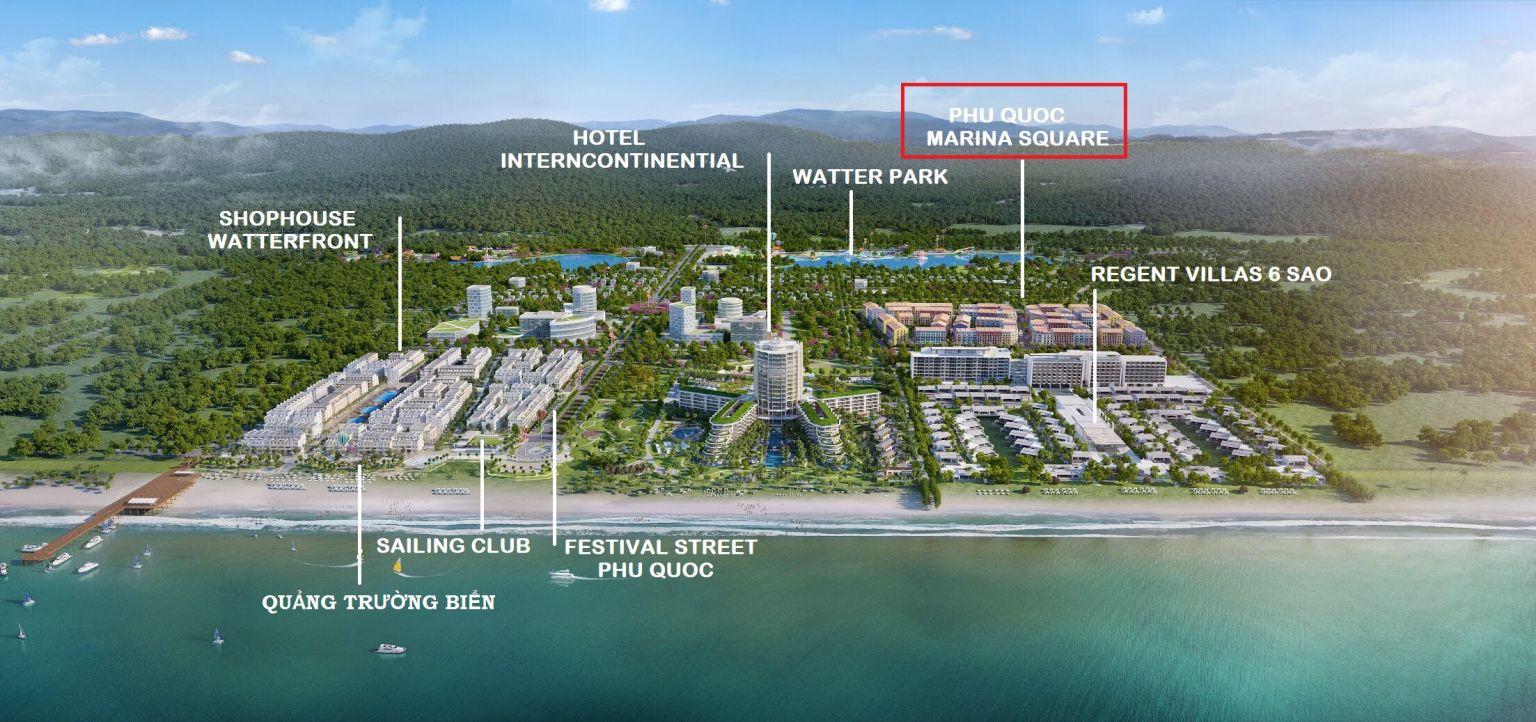 Phú Quốc Marina Square - Tổng Thể Mặt Bằng BIM Group