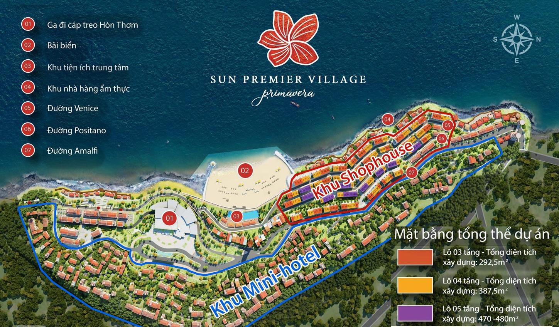 Sun Premier Village Primavera - Mặt Bằng Tổng Thể Dự Án