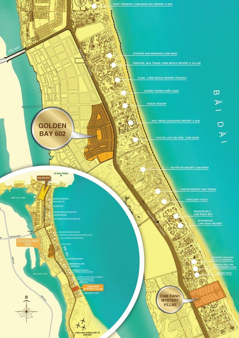 Dự án Golden Bay 2 - Golden Bay 602 - Vị trí dự án