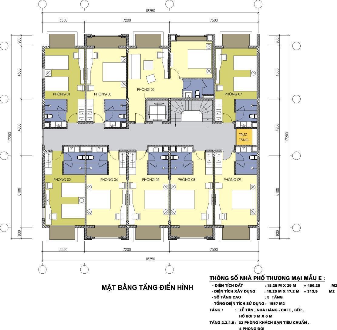 Hoàng Hải Complex Phú Quốc - Mặt bằng 2 căn ghép tầng 2