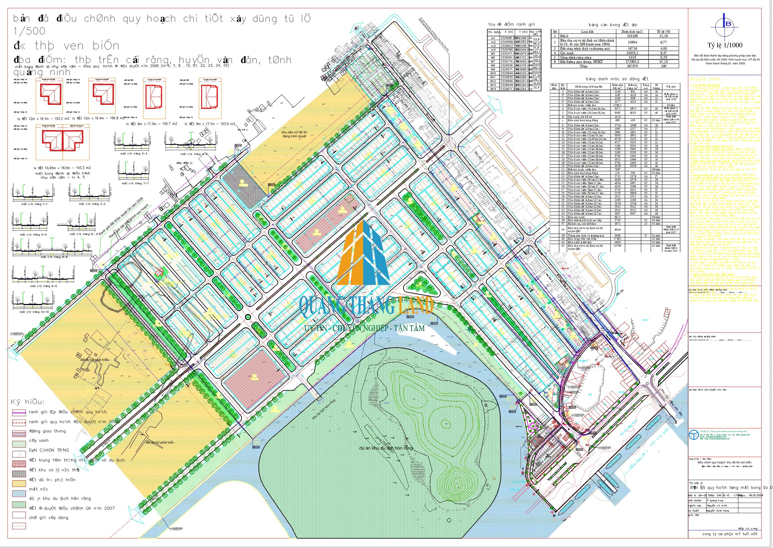 Khu đô thị Thống Nhất - Bản đồ quy hoạch 1-500