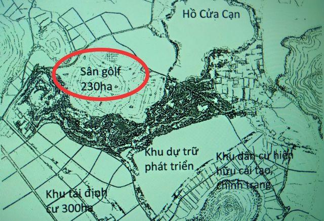 Sân Golf 230ha từ xã Bãi Thơm được chuyển về Đồng Cây Sao thuộc xã Cửa Dương