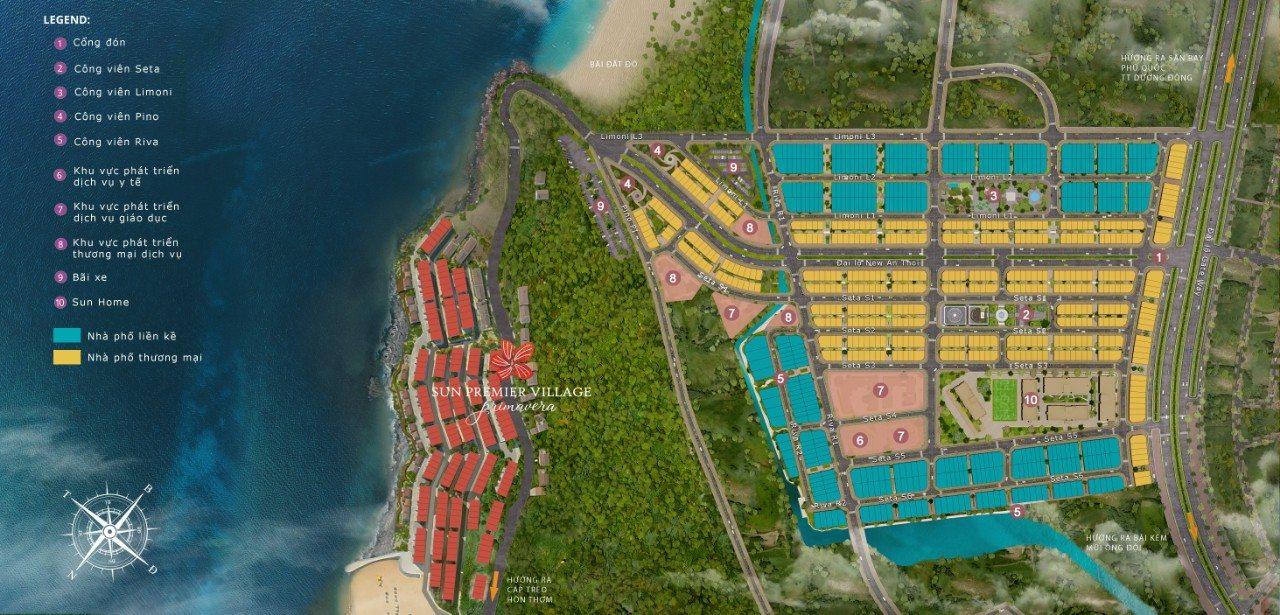 Khu đô thị Sun Grand City New An Thới Phú Quốc - Mặt Bằng Dự Án