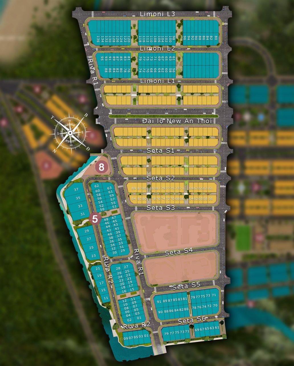 Khu đô thị Sun Grand City New An Thới Phú Quốc - Mặt Bằng Phân Khu 1
