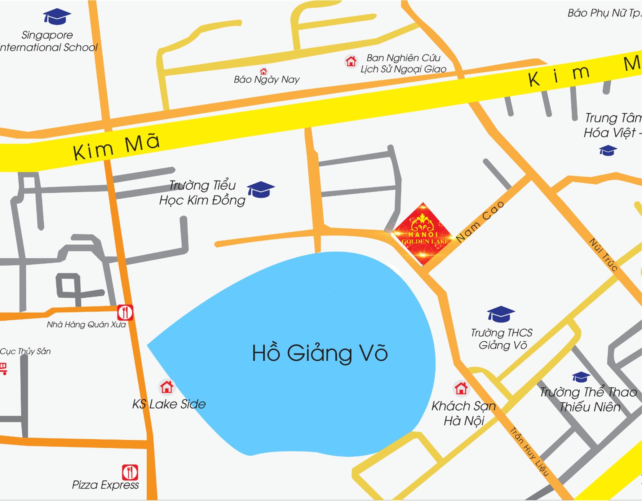 Hà Nội Golden Lake B7 Giảng Võ - Vị trí dự án