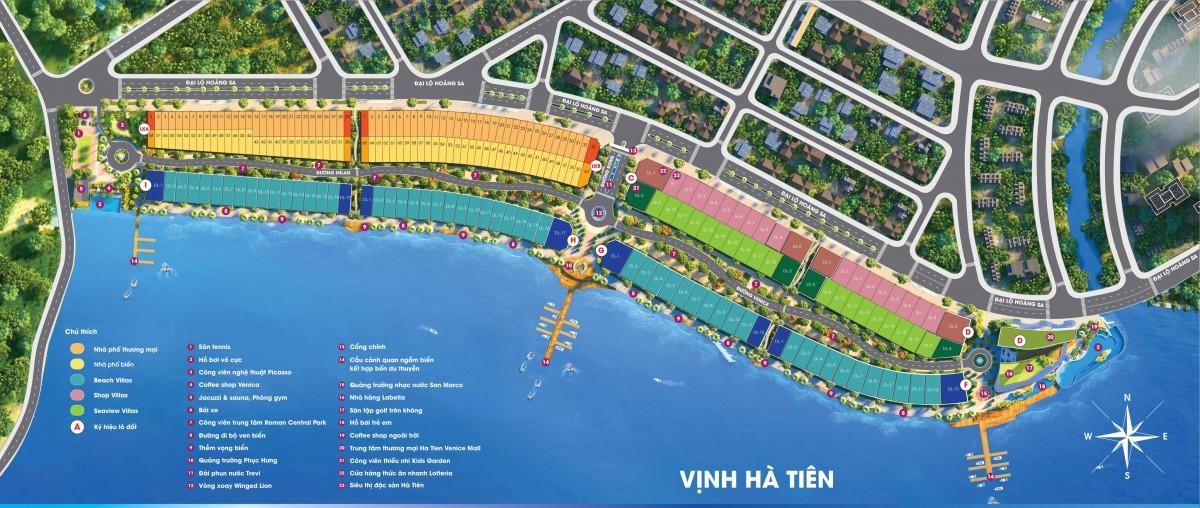 Phân Khu Hà Tiên Venice Villas - Mặt Bằng Chi Tiết