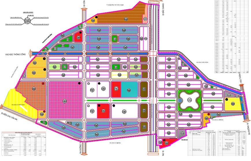 Khu đô thị Trường Linh Chí Linh New Center - Bản Đồ Cơ Cấu Sử Dụng Đất