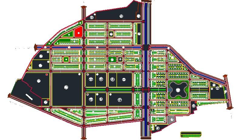 Khu đô thị Trường Linh Chí Linh Palm City - Bản Đồ Phân Lô Dự Án