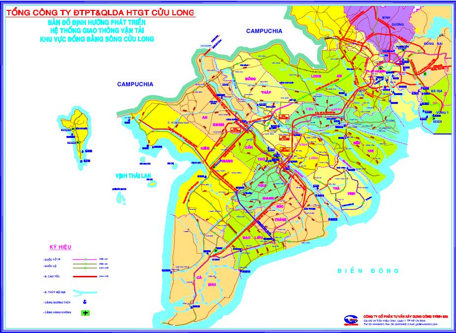 Sơ đồ tuyến cao tốc Hà Tiên-Rạch Giá-Bạc Liêu. Nguồn: Tổng công ty đầu tư phát triển và quản lý hạ tầng giao thông Cửu Long.