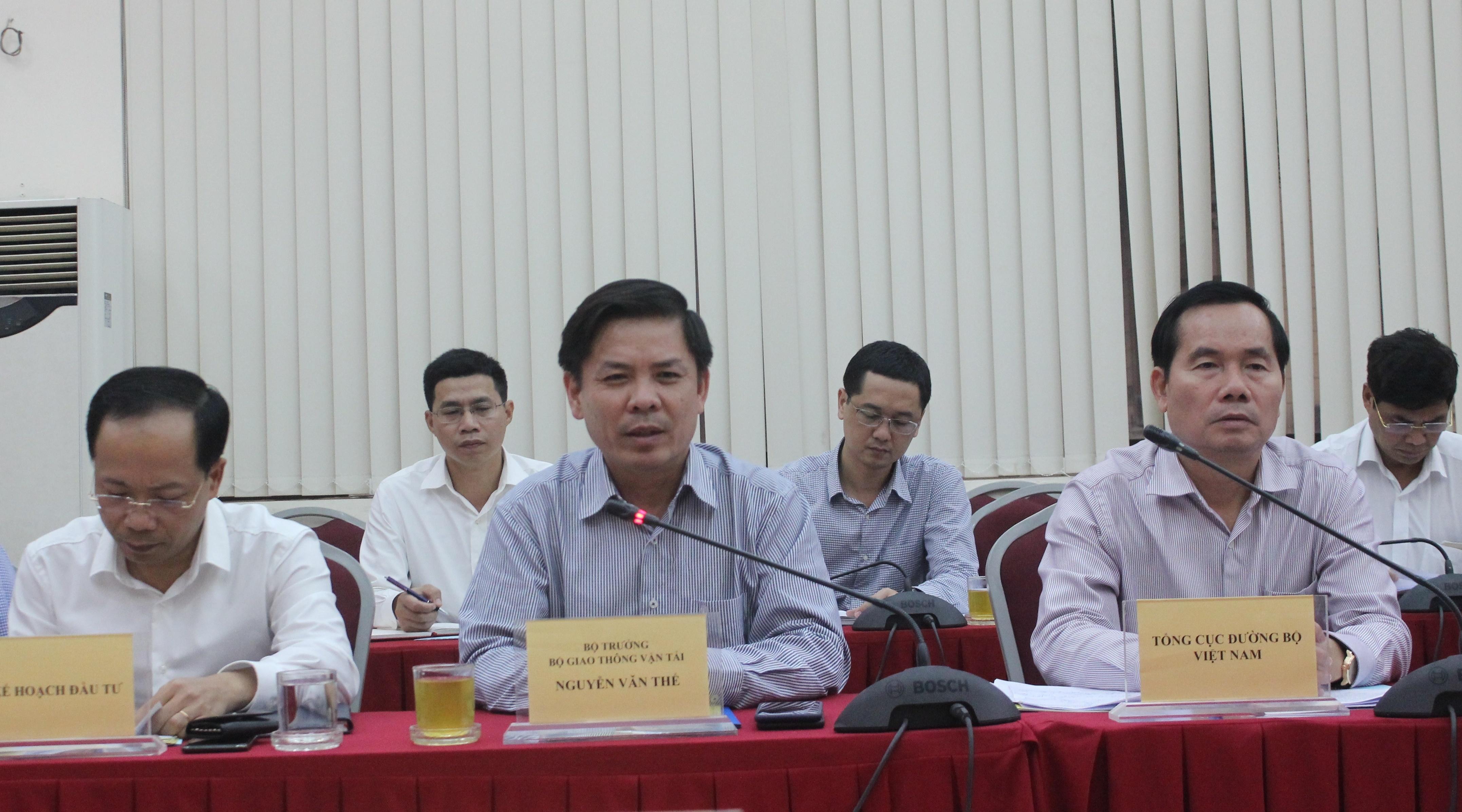 Bộ trưởng Nguyễn Văn Thể phát biểu tại buổi làm việc với lãnh đạo tỉnh Kiên Giang chiều 18/11
