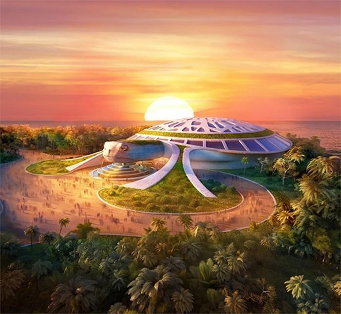 Thủy cung thiết kế hình rùa biển rộng 15.000m2 dự kiến khai trương tháng 4/2020