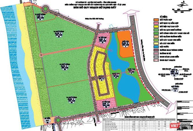 Bản đồ quy hoạch sử dụng đất tại Khu du lịch Đức Việt