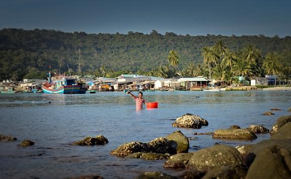 Những buổi chiều bình yên trên xã đảo Thổ Châu.