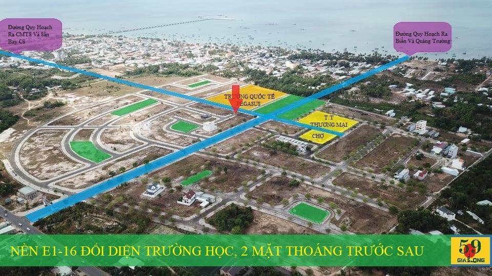 Vị trí thực tế tại dự án Khu đô thị mới Bắc Dương Đông 67ha Phú Quốc