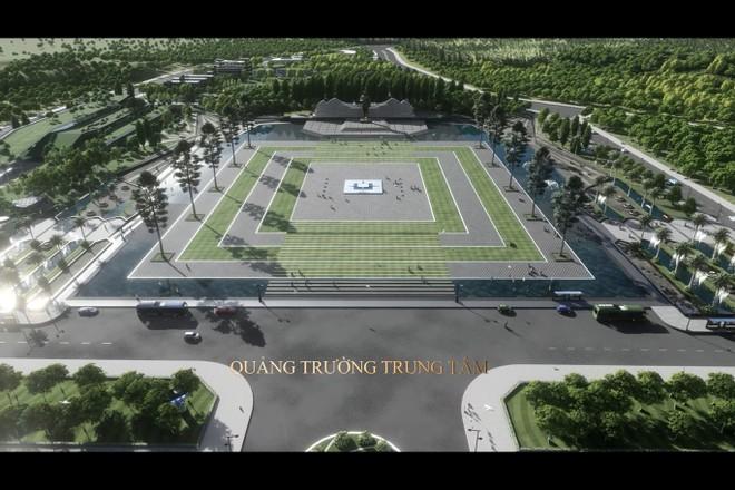 Phối cảnh quảng trường trung tâm và tượng đài Bác Hồ ở Phú Quốc