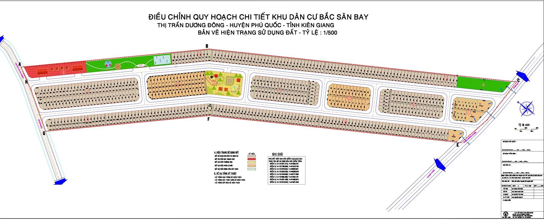 Khu tái định cư khu phố 10 Phú Quốc - Bản Đồ Phân Lô Dự Án