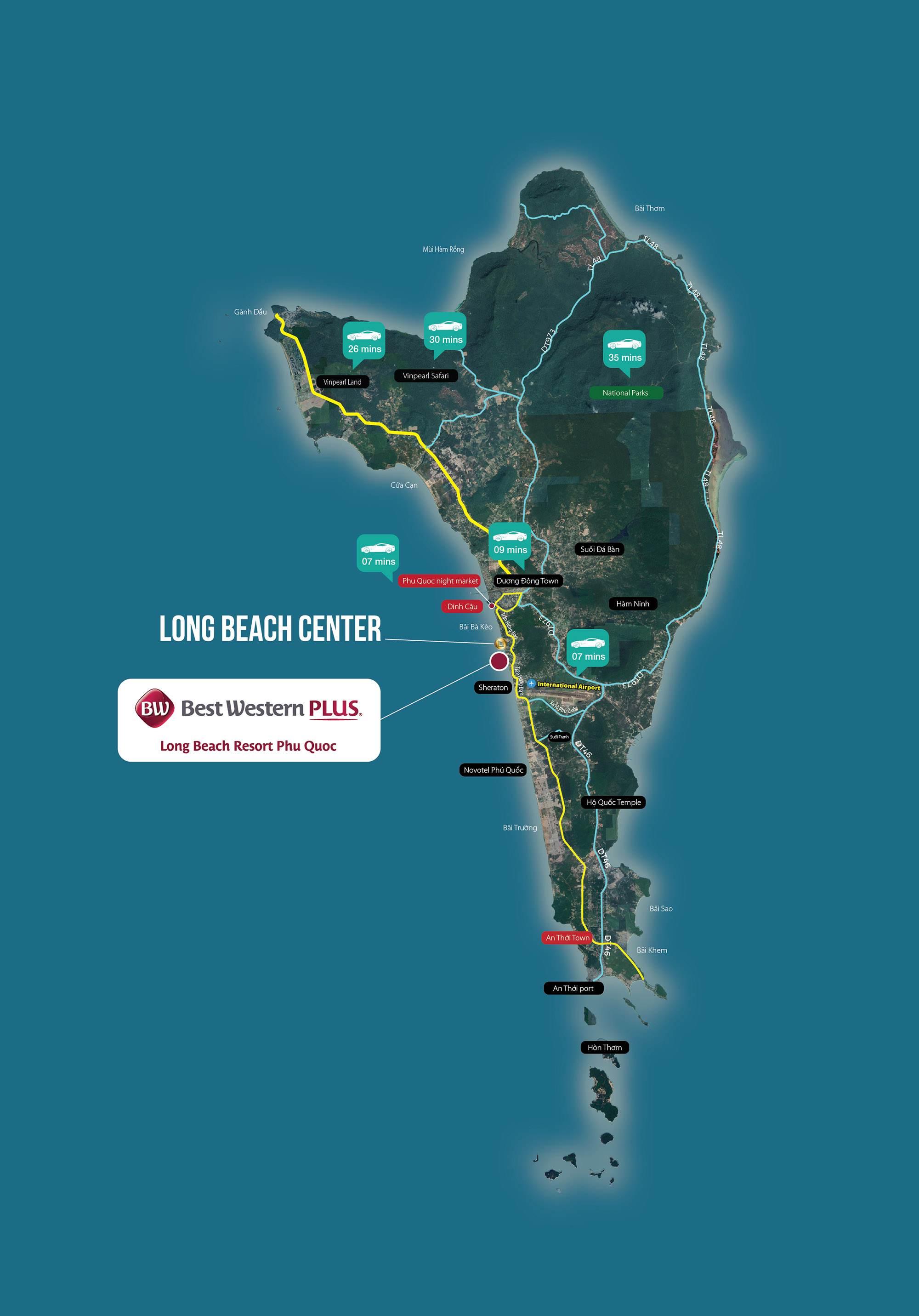 Best Western Plus Long Beach Resort Phú Quốc - Vị Trí Dự Án