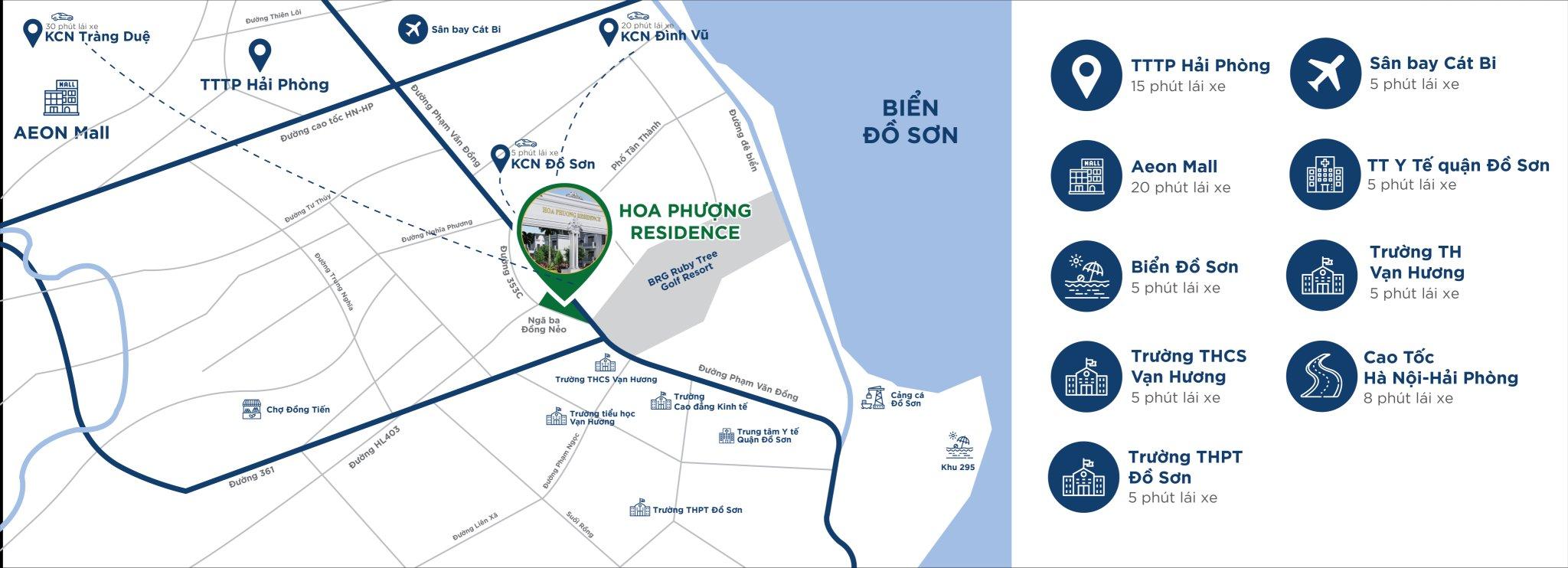 Khu đô thị Hoa Phượng Residence - Vị Trí Dự Án - Liên Kết Vùng