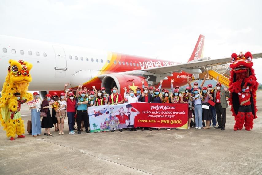 Chuyến bay khai trương đường bay Phú Quốc của Vietjet